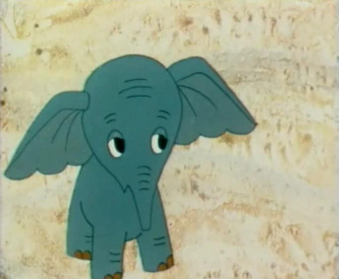 Голубой слонёнок